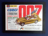 Corgi Toys 261 James Bond Aston Martin DB 5 1966 A3 Size Framed Poster Sign