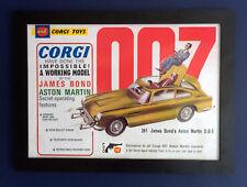 Corgi Toys 261 James Bond 007 Aston Martin DB 5 1966 A3 Size Framed Poster Sign