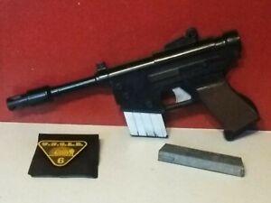"Vintage 1966 Original ""MAN FROM UNCLE"" .223 CLIPFIRE Toy Cap Gun clip badge I.D"