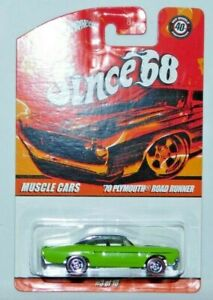 HOT WHEELS SINCE 68 MUSCLE CARS 1970 PLYMOUTH ROAD RUNNER