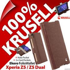 Krusell Ekero Folio Cartera Base Abatible Funda Tipo Sony Xperia Z5/Z5 Dual