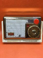 Vintage MOTOROLA 56T1 AM Transistor Radio Gold Chrome **KILLER**