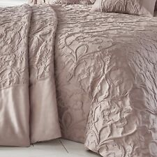 Bentley Blush Bed Throwover Damask Jacquard Bedspread Throw Pillowshams Set Pink