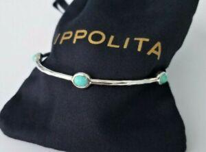IPPOLITA - Rock Candy 5-stone Bangle Bracelet with Turquoise - Stunning! $450