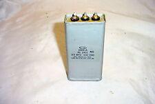 Cornell Dubilier 3uF & 3uF 600VDC PIO Oil Capacitor Audio Tube Amp