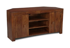 Living Room Furniture Dark Dakota Solid Mango Corner TV Unit (45n)