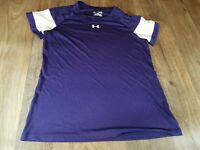 Under Armour HeatGear Purple Workout Top Ladies Size Medium Loose Fit CL1