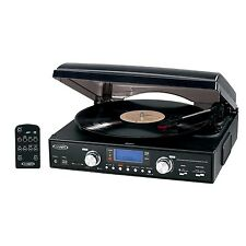 Jensen JTA-460 3-Speed Stereo Turntable with MP3 Encoding System and AM/FM Radio
