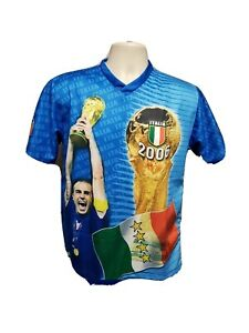 Vtg 2006 Italia World Cup Champions Adult Small Blue Football Jersey
