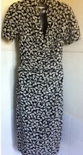 ETRO black&white silk dress short sleeves fully lined MADE IN ITALY IT44UK12VGC