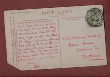 Malvina Mitchell, 'Paris House', Osborne Road, Southsea 1908  postcard  zh222