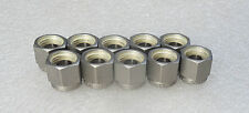 """Lot of 10: Swagelok 1/4"""" Stainless Steel Nut and Ferrule Set SS-400-NFSET New"""