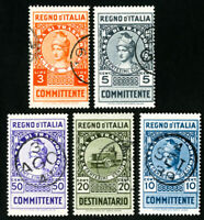Italy Stamps Lot of 5 Revenues