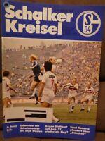 FC Schalke 04 + Schalker Kreisel 18.10.1980 Bundesliga gegen VfB Stuttgart /510