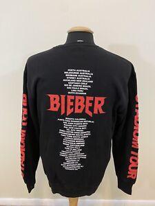 Justin Bieber Team Stadium Tour Changes Long Sleeve Sweatshirt Black Size Medium