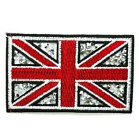 PATCH BRITAIN ENGLAND FLAG BLING IRON ON SEW SEQUIN PATCHES BADGE RED WHITE UK