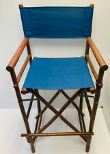 Indoor and Outdoor Foldable Set of 2 Tall Directors Chairs