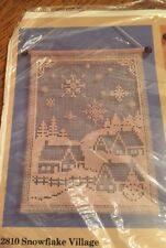 The Creative Circle Needlecraft Kit 2810 New In Package Snowflake Village
