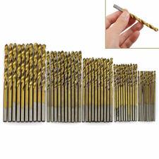 50Pcs 1/1.5/2/2.5/3mm Titanium Coated HSS High Speed Steel Drill Bit Set Tool