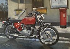 BSA Spitfire British Rocker Motorbike Motorcycle Christmas Xmas Card