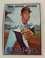 1967 Phil Ortega # 493 Washington Senators Topps Baseball Card