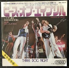 """Three Dog Night – Pieces Of April / The Writings On The Wall Japan 7"""" Vinyl"""