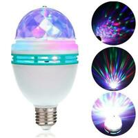 3W E27 RGB Double Head Rotating Magic Ball LED Stage Bulb Club Light DJ T3A2