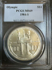 1984-S Olympic Commemorative Silver Dollar PCGS MS69 Gem BU B7632