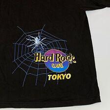 Vintage Halloween Hard Rock Cafe TOKYO T-Shirt Shirt XL 1999 Spider