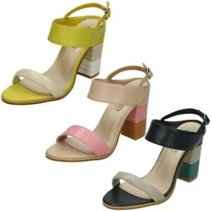 Ladies Spot On High Stitched Heel Mule 'Sandals'