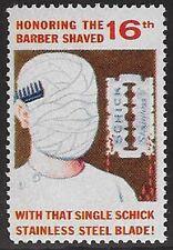 USA Cinderella stamp 1964 MAD Magazine, Shaved with Single Schick Blade, dw913b
