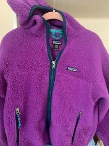 Patagonia kids Size 12 Retro-X Full Zip Purple Hooded Jacket