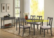 Kitchen Dining Chairs Weathered Blue Washed 4pc or 6pc set Furniture Chair