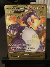 Pokemon Card - Shiny Charizard Vmax - 074/073 - Custom Gold Metal Card