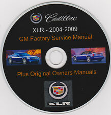 Cadillac XLR 2004 -2009 Original GM SHOP - SERVICE MANUAL,PLUS Owners Manuals !