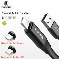 2in1 USB Data Cable Lightning Micro Charging Charger for iPhone X 8 7 6 Samsung