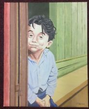 LITTLE BOY OIL ON CANVAS BY J.M.WALLACE RSA ARTIST