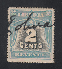Liberia Cockrill Type PC16 Used 1906 REVENUE Issue Used