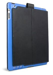 Snap-on Protective Folio Cover for iPad 2 & 3 - Black with Blue iFrogz Summit