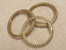 3 Three Gold Washed Sterling Silver Twist Style Rings, Multiple Sizes 5.25, 7, 7