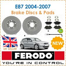For BMW E87 2004-2007 FERODO Two Rear Brake Discs + Brake Pads + Sensor New