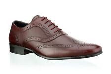 Mens Red Tape Carn 2 Bordo Leather Smart Lace Up Brogue Shoes Size UK 7 - 12