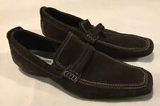 Steve Madden Dark Brown Suede Loafer, Men's Sz 8.5, Slip-On, Belted, Casual