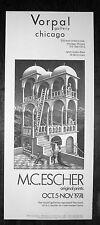 original M.C. Escher poster Vorpal Gallery, Chicago, 1974
