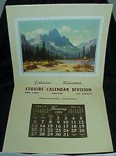 1952 Esquire Calendar Division Salesman Sample Calendar Mount Ennis Gissing