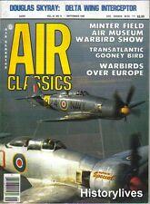 Air Classics Sept.85 Douglas Skyray De Havilland Mosquito Gooney R4D-6S Airplane