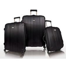 Travelers Choice Black Rome 3-Piece Hardside Spinner Lightweight Luggage Bag Set