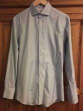 "Charles Tyrwhitt Blue Non Iron 100% Cotton Extra Slim Fit 15.5"" Collar Shirt"
