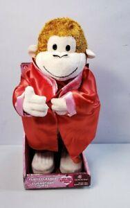 Gemmy Flirty Flasher Monkey Singing Toy 13 inches 2007