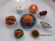 Hand Made Dollhouse Miniature HOLIDAY DINNER 8 Pieces Set #3